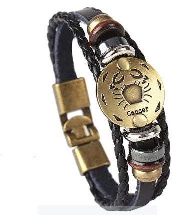 Men's Jewelry-PU Leather Constellation Bracelet Bangle