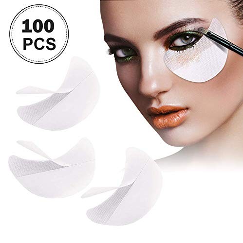 100 Pcs Eyeshadow Shields Makeup Pads - Shade & watches