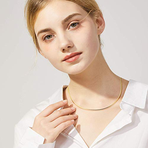 Italian Style-18K Gold Plated Sterling Silver Chain