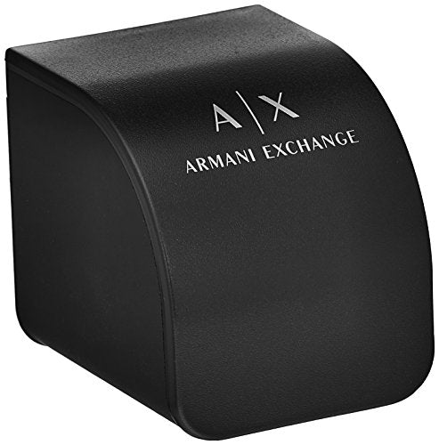 Armani Exchange Men's Silver Leather Watch