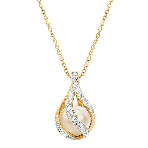 Love's Embrace Pearl & Diamond Necklace