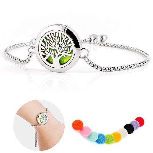 Healing Stainless Steel Bracelet gift with 10 Felt Pads - Shade & watches