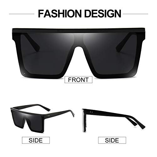 Fashion Square Oversized Sunglasses for Uni-Sex
