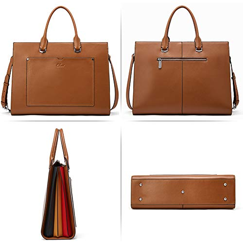 CLUCI- Women Leather Slim Business Shoulder Bag - Shade & watches
