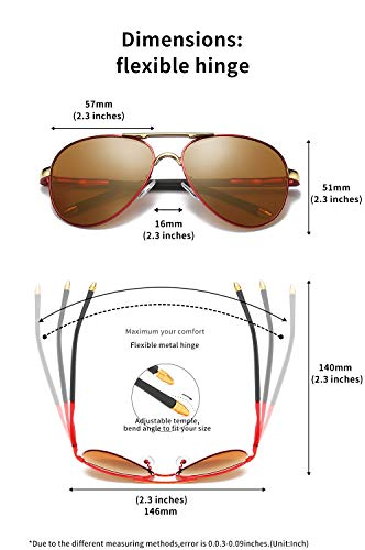 Luxury aviator Men's Polarized Driving Sunglasses