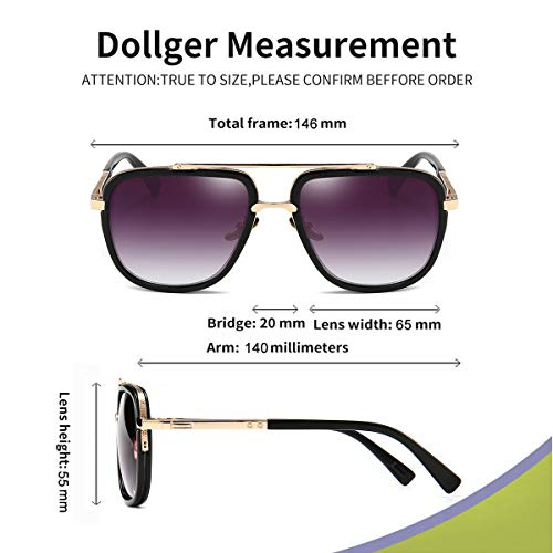 Dollger Pilot Shades for Unisex