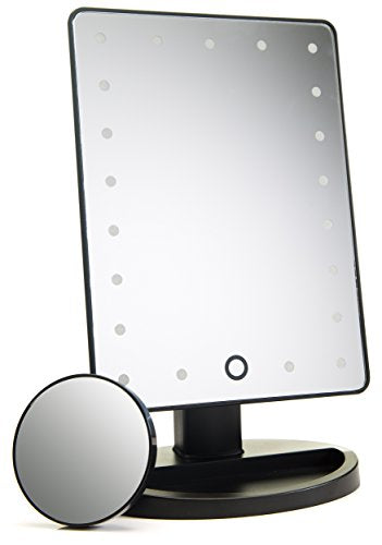 Daylight Lighted Makeup Mirror & Touch Screen Dimming - Shade & watches
