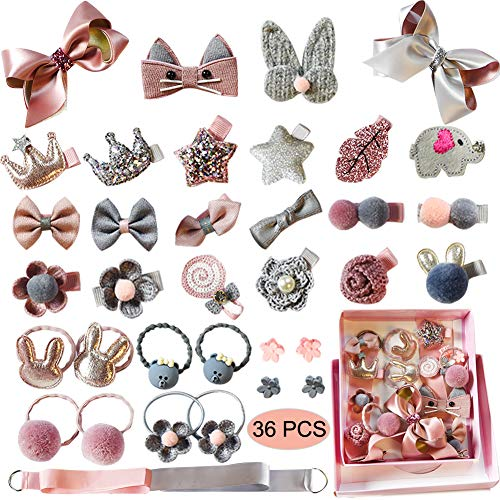 Baby Girl's Cute Hair Bows Baby Elastic Hair Ties