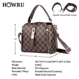 Small PU Leather Top Handle Satchel Crossbody Handbag - Shade & watches