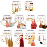 63 Pairs Colorful Earrings with Tassel pair Sets