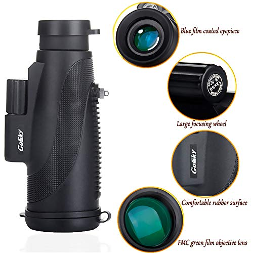 High Power Prism Monocular with mobile holder