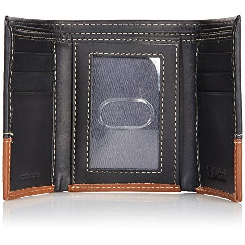 Timberland Mens Leather Trifold Wallet With ID