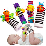 Baby animal Soft Socks/ Wrist Rattles/Foot Finders