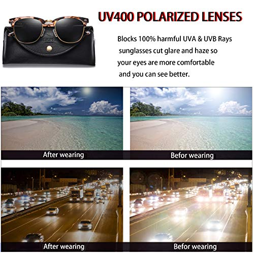 Vintage Round Polarized Sunglasses for Women
