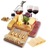 Home Euphoria Natural Bamboo Cheese Board and Cutlery Set - gift - Shade & watches
