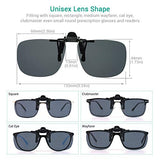 Polarized Unisex Clip On Flip Up Sunglasses