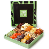Holiday Nut and Dried Fruit Gift Basket, for parties - Shade & watches