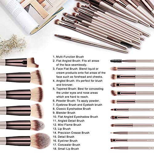18 Pcs Premium Makeup brush set & Much more! - Shade & watches