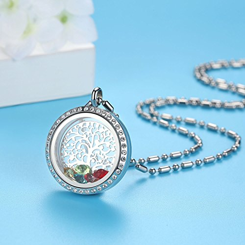 Gifts for Mom-Family Tree of Life Birthstone Necklace Jewelry - Shade & watches