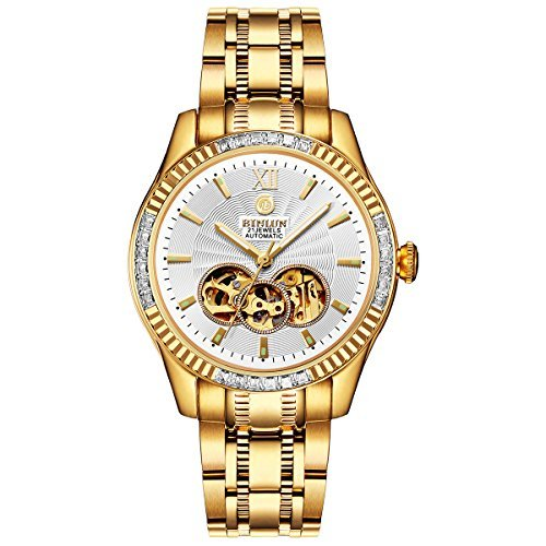 Men's Automatic 18K Gold-Plated Luxury Watch