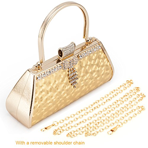 Women Sparkling Vintage Classic Evening Shoulder Bag - Shade & watches