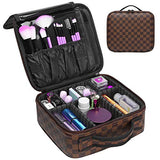 Luxury Professional Makeup Leather Cosmetic Bag - Shade & watches