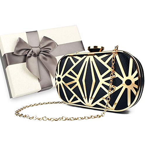 Luxury Formal Cocktail Clutch Purse, with Gift Box - Shade & watches