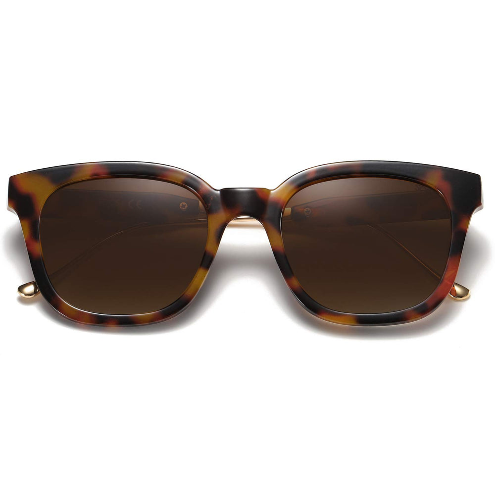SOJOS Classic Square Polarized Women Sunglasses - Shade & watches