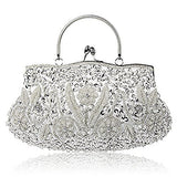 Design Flower Evening Purse Large Clutch Bag - Shade & watches
