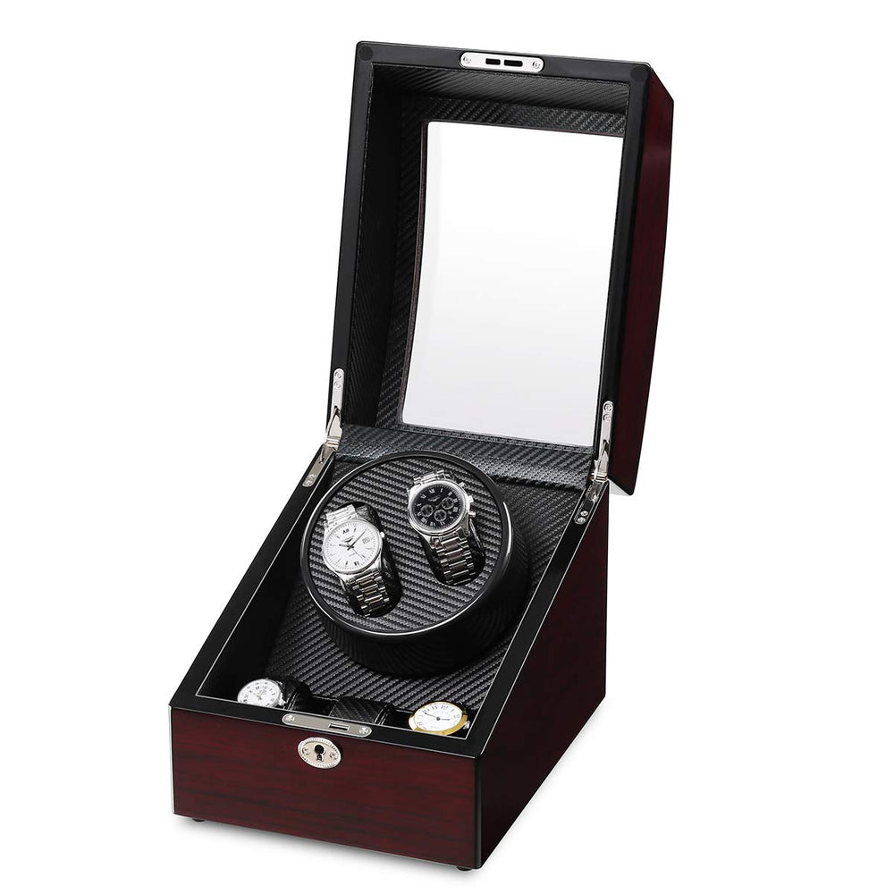 Luxury Watch Winder with Leather Storage Box