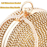 Women Dazzling Ring Handle Purse Evening Bag - Shade & watches