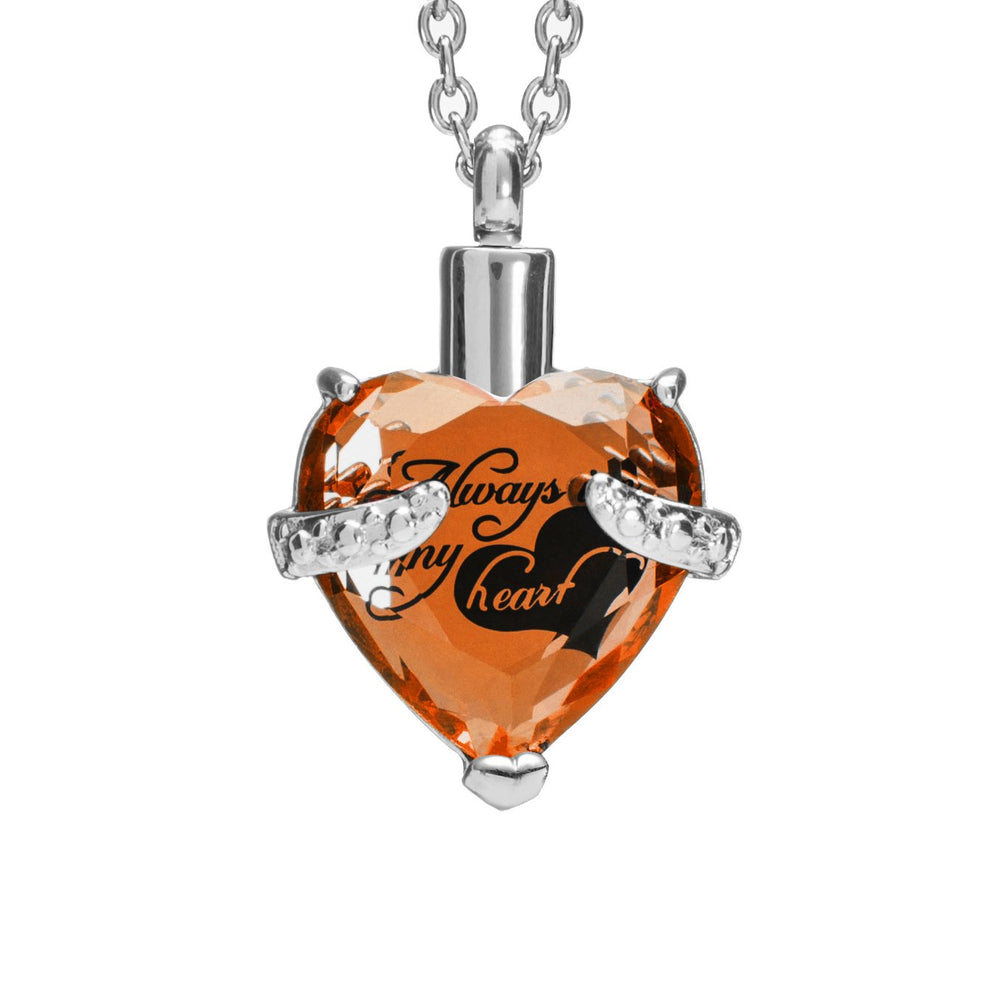 Rhinestone Necklace Heart Pendant for Gifts - Shade & watches
