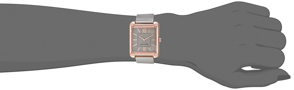 Nine West Women Rose Gold & Silver Bracelet Watch - Shade & watches