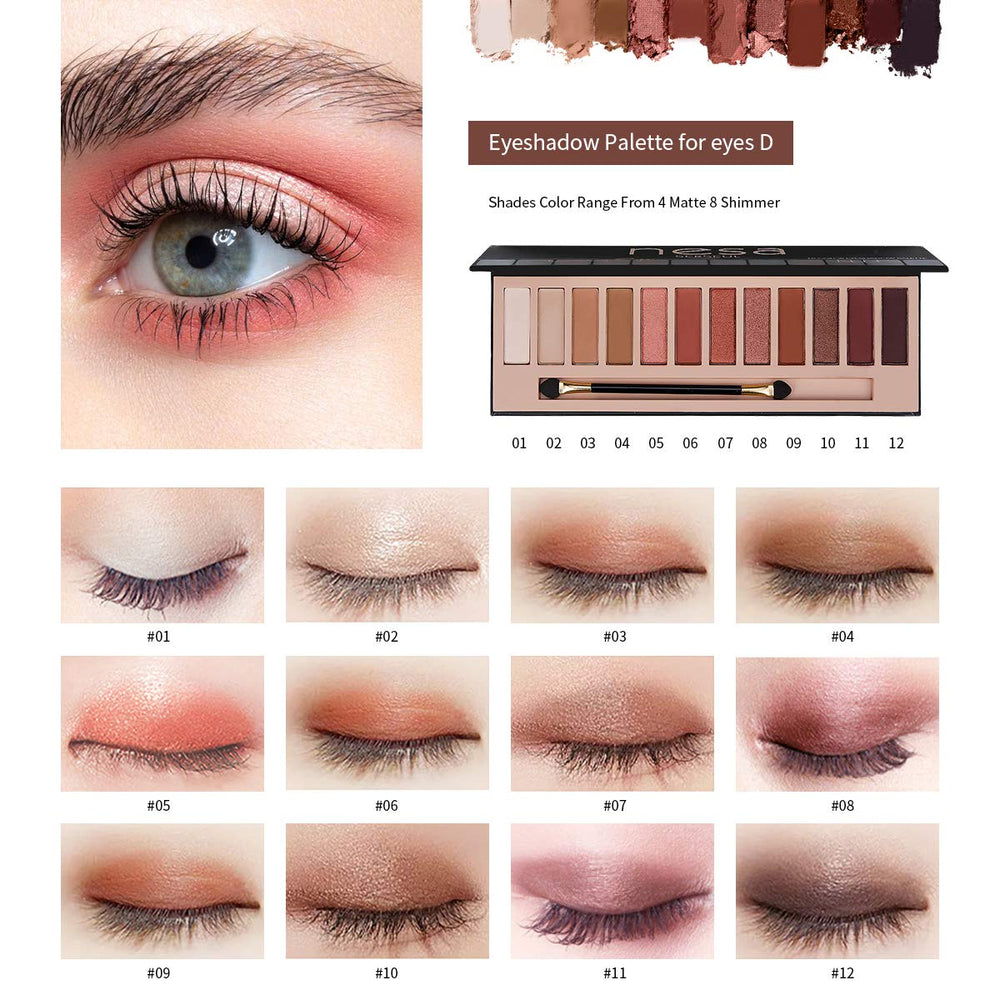 Nudes Eyeshadow, Shimmer, Eye Makeup - Shade & watches