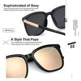 SIPHEW Women Mirrored Polarized Sunglasses - Shade & watches
