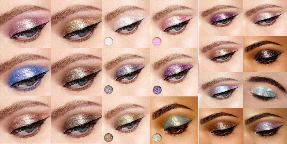 10 Colors Sparkle Shimmer & Eyeshadow - Shade & watches