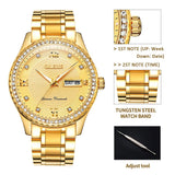 Men's Business Shiny Diamond Crystal Watch - Shade & watches