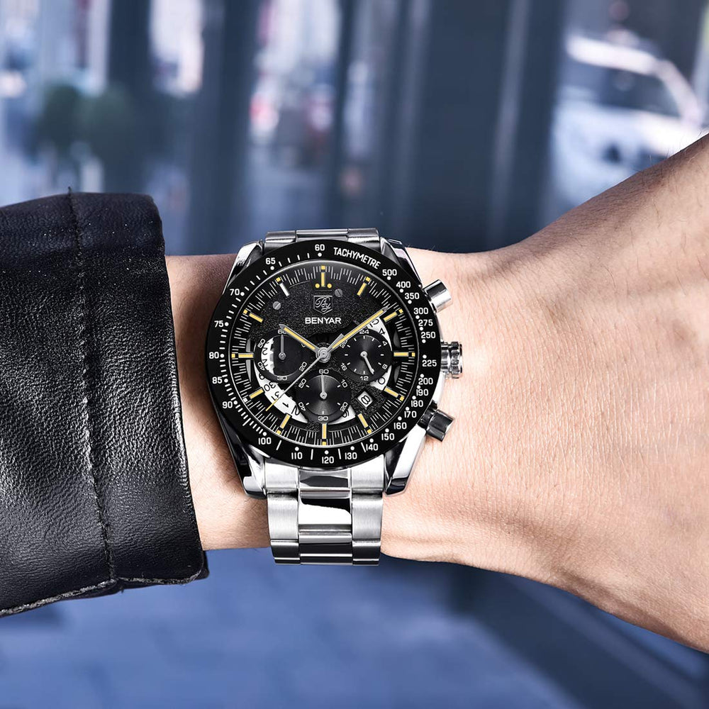 Men's Waterproof Quartz Chronograph Business Watch
