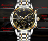 Lige -Men's Stainless Steel Strap Watch