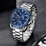Men's Stainless Steel Chronograph Business Watches - Shade & watches