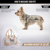 WOPET -Fashion Pet Dog Carrier PU Leather Handbag - Shade & watches
