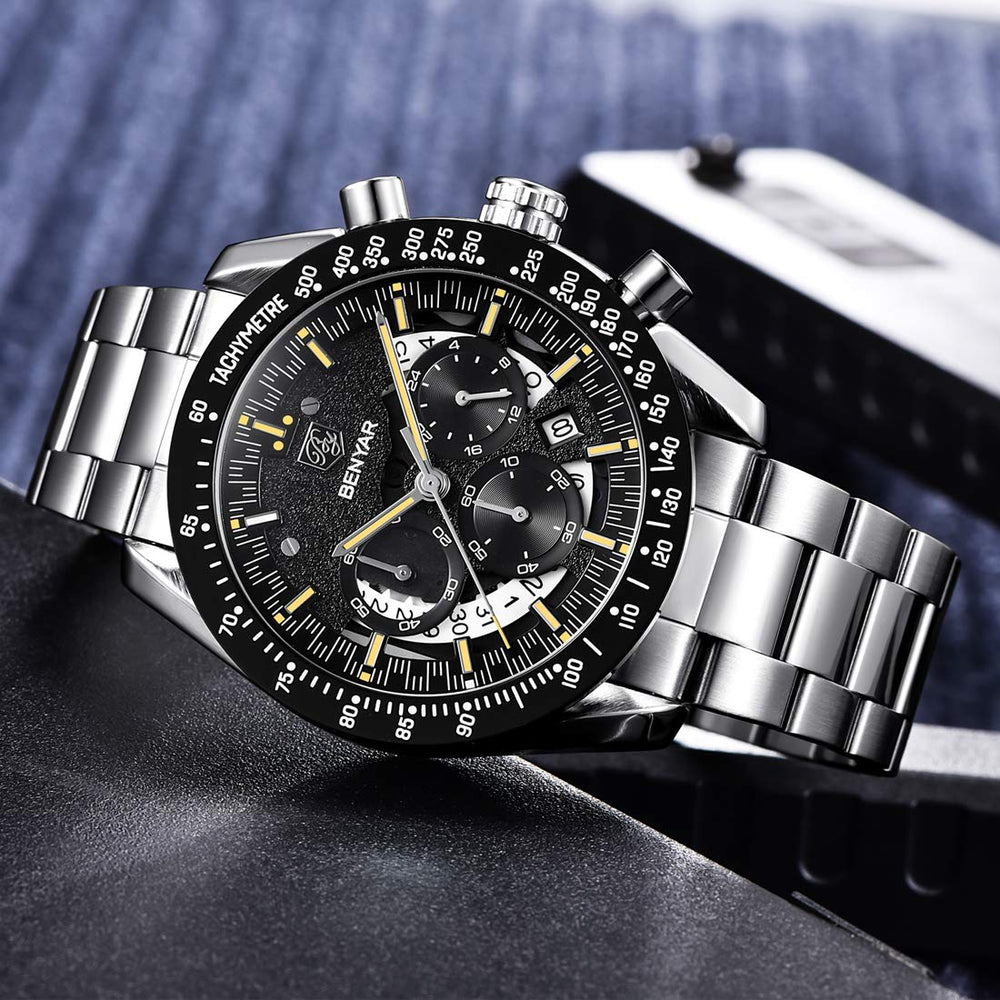 Men's Waterproof Quartz Chronograph Business Watch - Shade & watches