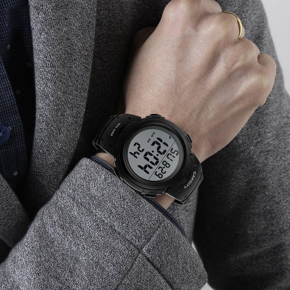 Men's Digital Sports LED Military Watches - Shade & watches
