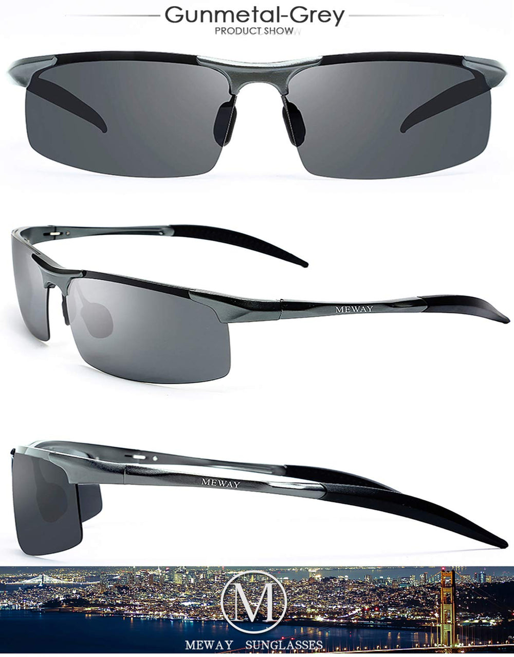 MEWAY -Men's Driving Polarized Sunglasses - Shade & watches