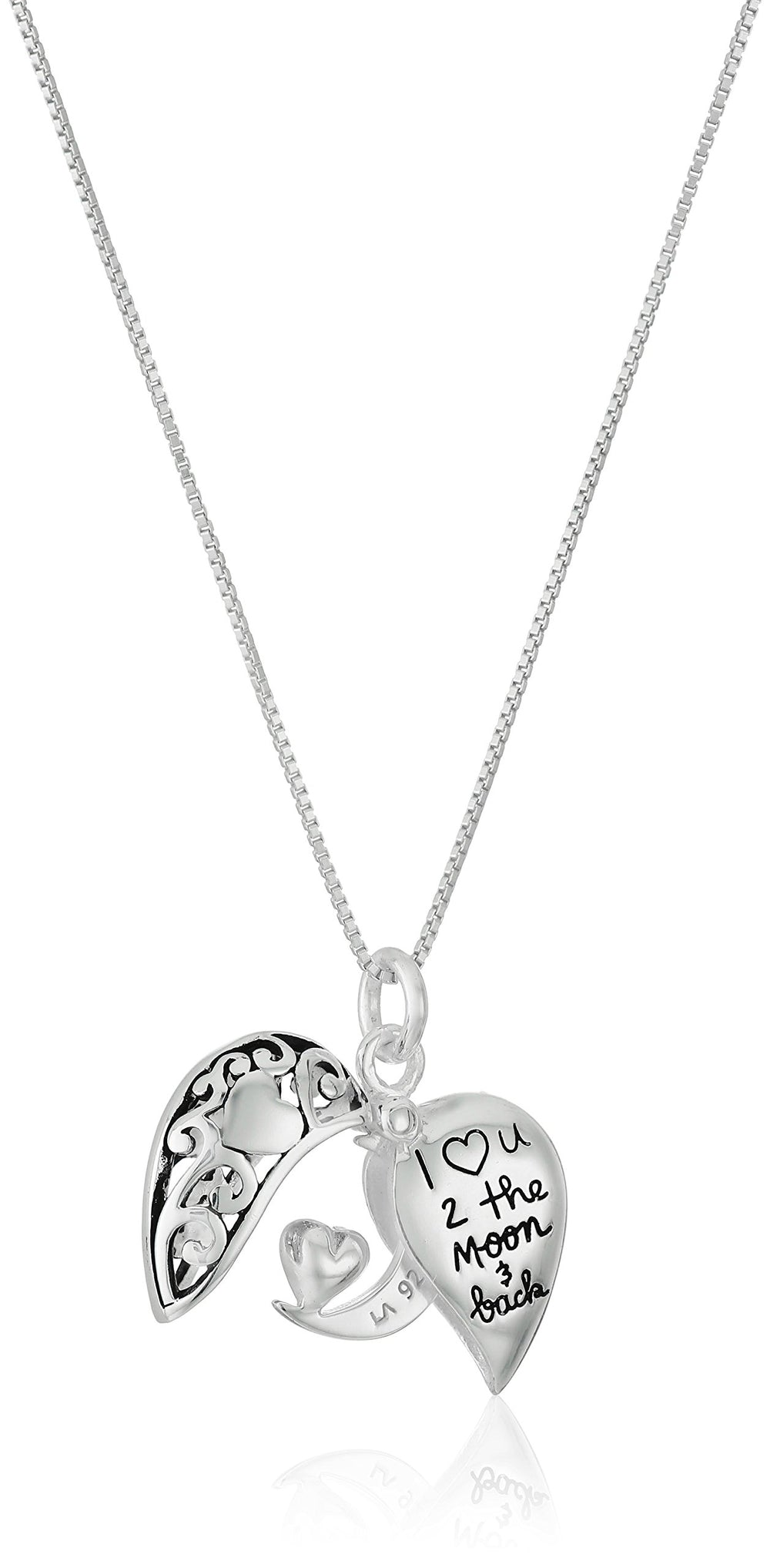 """I Love U 2 The Moon and Back"" Necklace gift - Shade & watches"