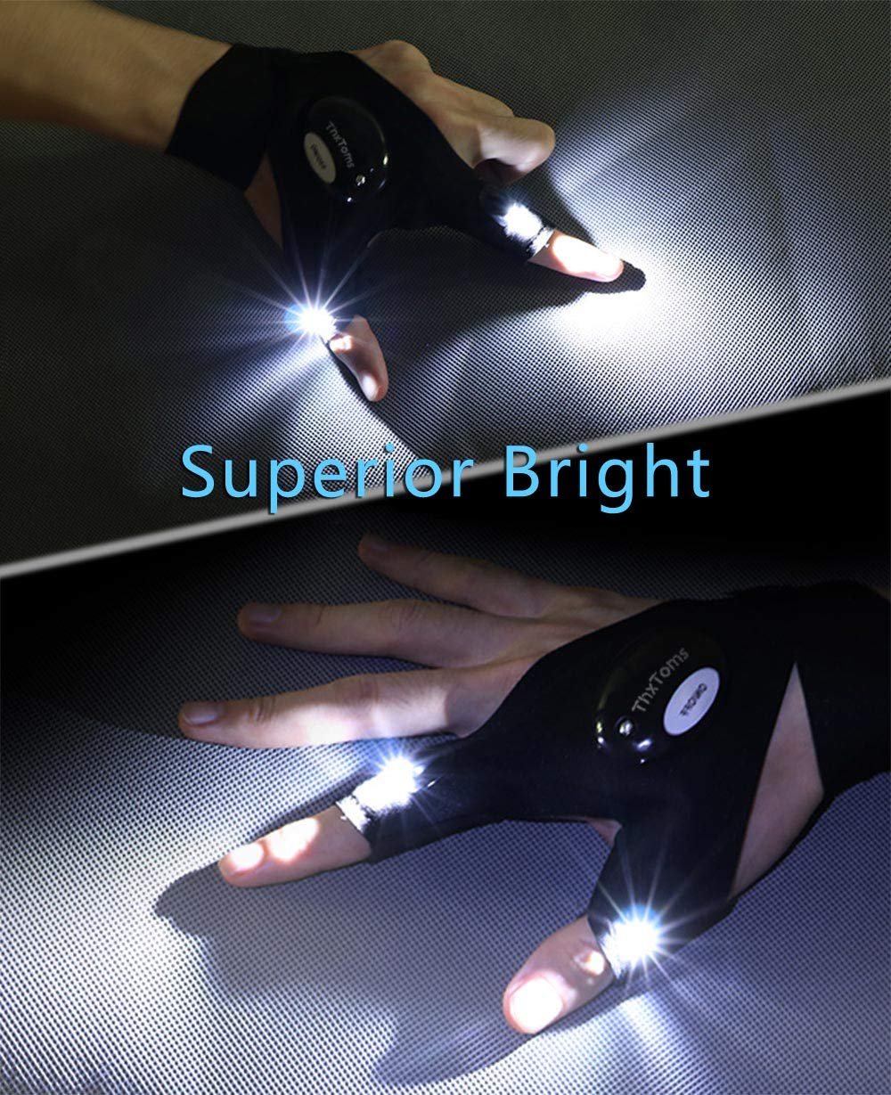 ThxToms LED Flashlights Gloves Gift for Men's - Shade & watches