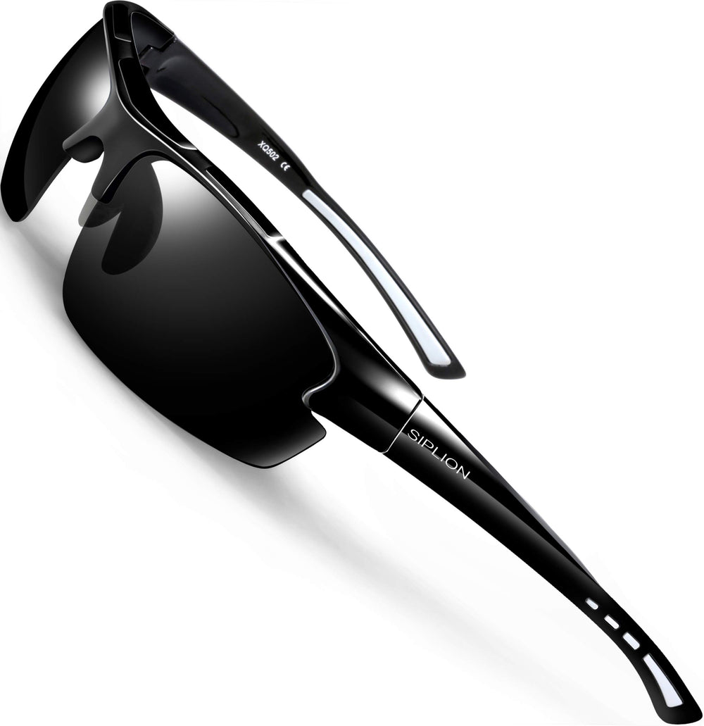 SIPLION Men's Polarized Sports Sunglasses - Shade & watches