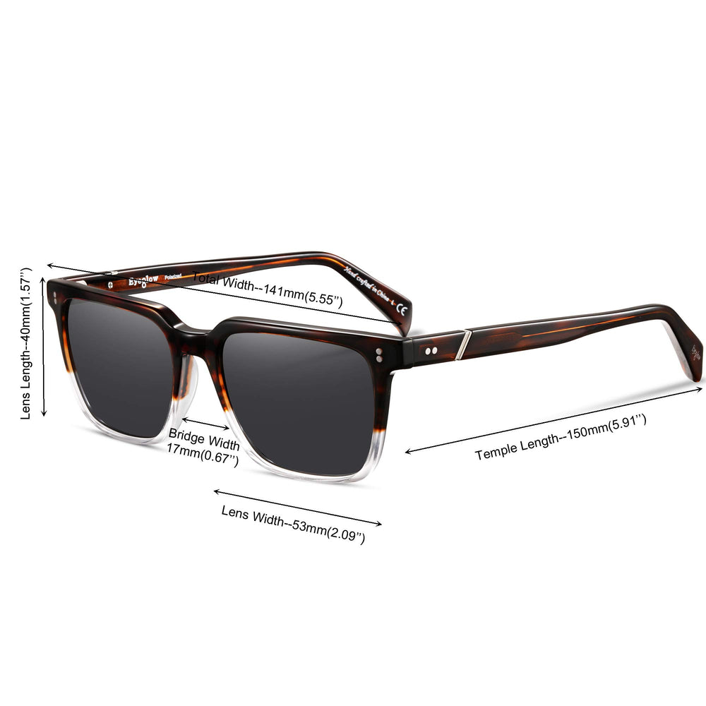 Men's Polarized Vintage Square Sunglasses - Shade & watches