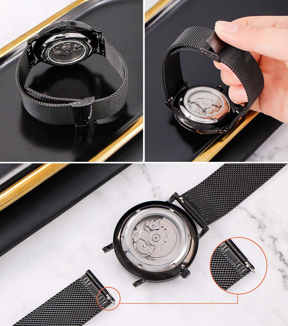 Men's Automatic Luxury Sapphire Lens Watch - Shade & watches