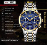 Men's Luxury Steel Quartz Analog Watch